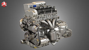 Hybrid 4 Cylinder Engine