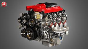 V8 Engine - Supercharged Muscle Car Engine