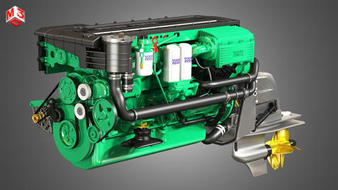 330 Engine - 6 Cylinder Marine Engine