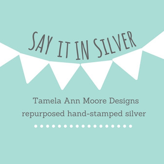 Say It In Silver Website and Business Card Design