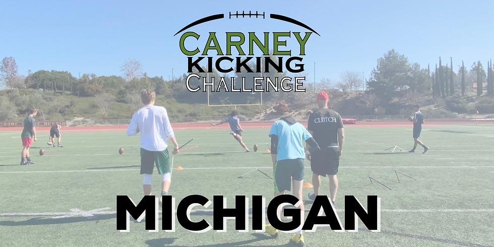 Carney Kicking Challenge Michigan