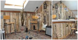 Bardage mural en bois de palette