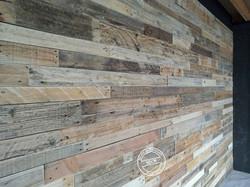 Bardage mural bois de palette