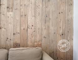 Bardage mural en bois de récupération