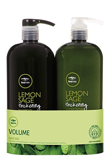 Volume Lemon Sage Thickening Liter Duo Set