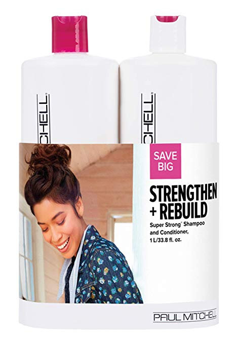 Paul Mitchell Strengthen + Rebuild Super Strong Liter Duo Set