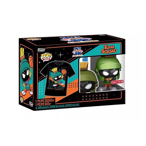 Funko POP! Movie Collectors Box Space Jam 2 Marvin the Martian Metallic Pop &Tee