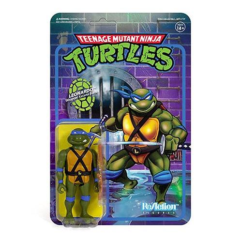 Teenage Mutant Ninja Turtles Leonardo 3 3/4-Inch ReAction Figure Preorder
