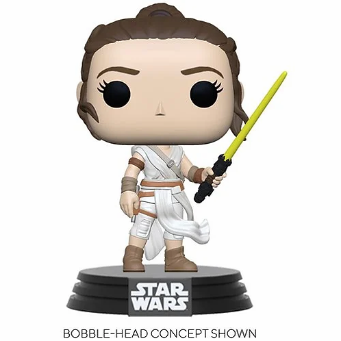 Star Wars: The Rise of Skywalker Rey with Yellow Saber Pop!