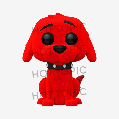 FUNKO CLIFFORD THE BIG RED DOG POP! BOOKS CLIFFORD FLOCKED HOT TOPICS