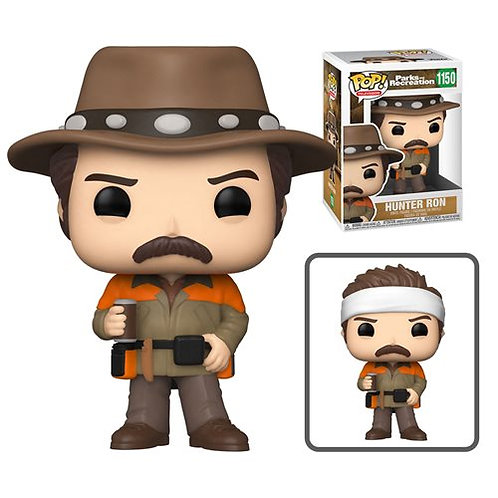 Parks and Recreation Hunter Ron Swanson Pop! Common + Chase Bundle
