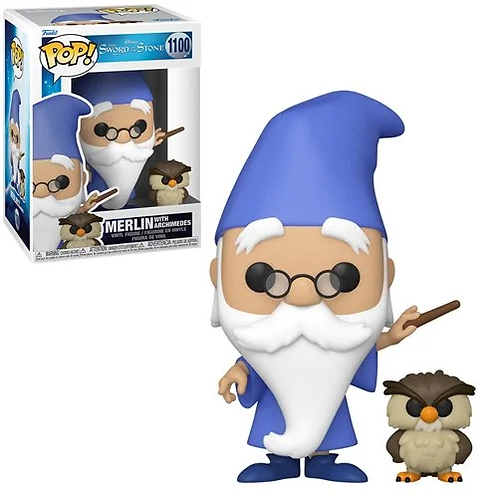 The Sword in the Stone Merlin with Archimedes Pop!  and Buddy Preorder