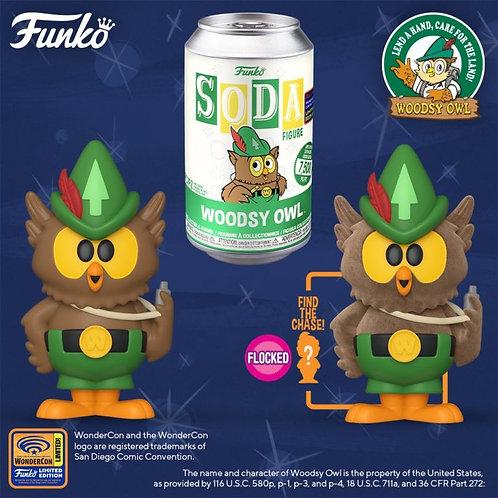 Funko Vinyl SODA: Woodsy Owl w/ Flocked 1/6 Possible Chase