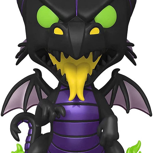 "Funko Pop! Jumbo Disney Villains GITD 10"" Maleficent Dragon Amazon Excl Preorder"