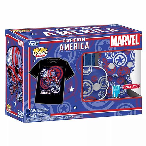 Funko POP! Collector's Box Captain America Marvel Patriotic Age POP&Tee