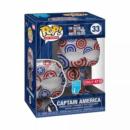 Funko POP! Artist Series Marvel Patriotic Age Captain America Preorder