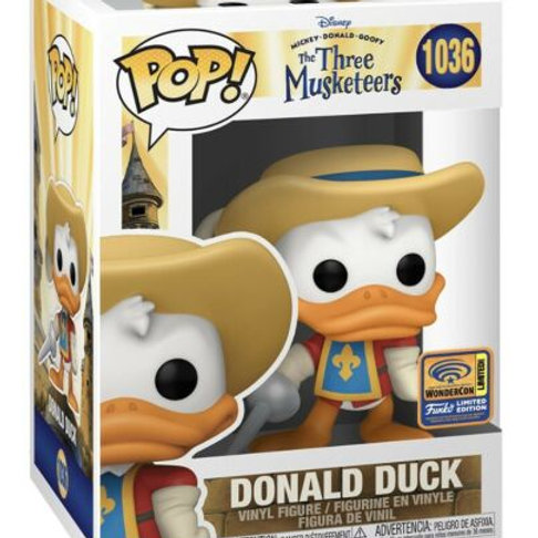 Funko Pop! The Three Musketeers Donald Duck Wondercon Official Sticker