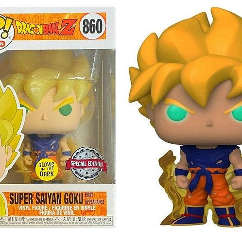 Funko Pop Super Saiyan Goku First Appearance (GITD) #860
