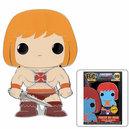 Masters of the Universe He-Man Large Enamel Pop! Pin PREORDER
