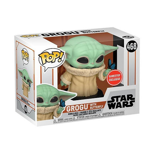 POP! Star Wars The Mandalorian The Child with Butterfly GameStop Excl