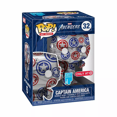 Funko POP! Artist Series: Marvel Patriotic Age - Captain America