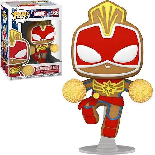 Marvel Holiday Gingerbread Captain Marvel Pop! Vinyl Figure Preorder