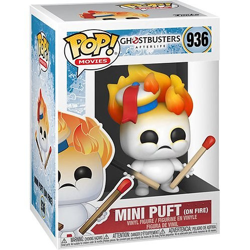 Ghostbusters 3: After Life Mini Puft on Fire Pop! Vinyl Figure Preorder