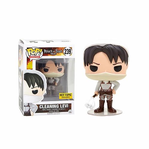 Funko Attack On Titan Pop! Animation Cleaning Levi Hot Topic Exclusive