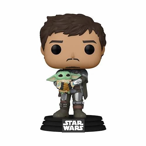Star Wars: The Mandalorian Mando Holding Child Pop! Vinyl Figure Preorder