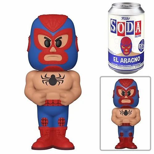 Marvel Luchadores Spider-Man Vinyl Soda Figure