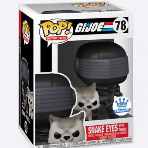 FUNKO POP! & BUDDY SNAKE EYES WITH TIMBER - G.I. JOE FUNKO SHOP EXCL PREORDER