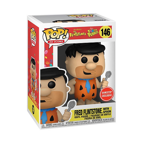 Funko POP! and Tee: Fruity Pebbles Fred with Spoon GameStop Exclusive Preorder