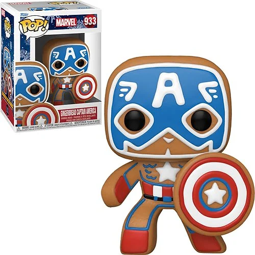 Marvel Holiday Gingerbread Captain America Pop! Vinyl Figure Preorder