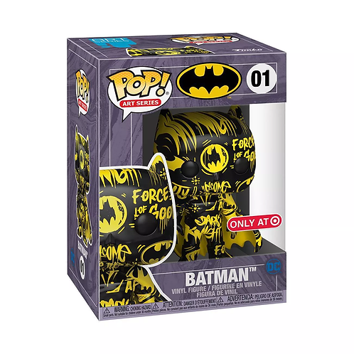 Funko POP! Heroes: DC  Batman Black and Yellow Artist Series Target Exc