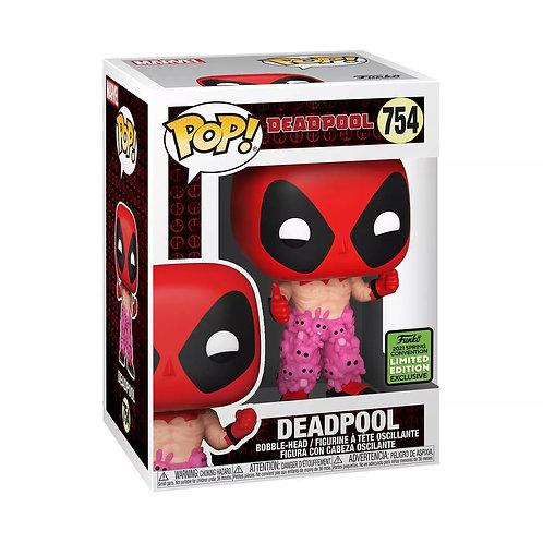 Funko POP! Deadpool Deadpool with Teddy Bear Pants ECCC 2021 Shared Exc