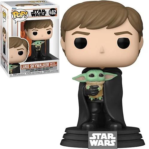 Star Wars: The Mandalorian Luke with Child Pop! Vinyl Figure Preorder