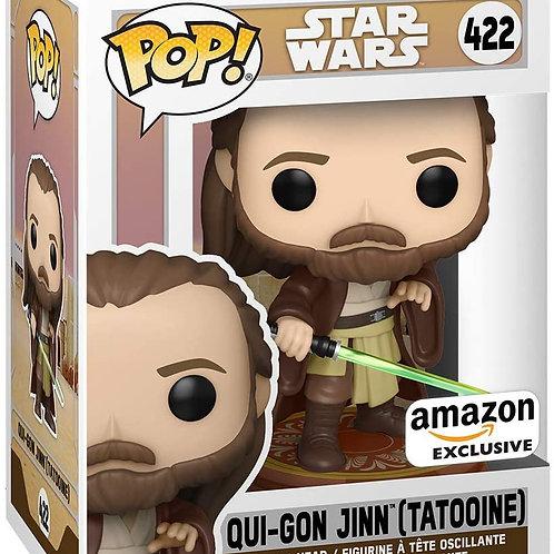 Funko Pop! Star Wars Across The Galaxy Qui-Gon Jinn Tattooine Amazon Ex Preorder