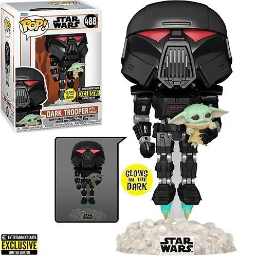 Star Wars: The Mandalorian Dark Trooper with Grogu GITD EE Exclusive Preorder