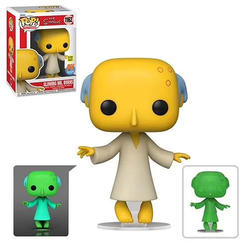 The Simpsons Glowing Mr. Burns Pop! PX Exclusive Common + Chase Bundle Preorder