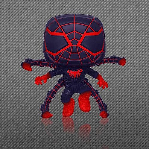 POP! Marvel's Spider-Man: Miles Morales Program Suit Pose GITD Gamestop