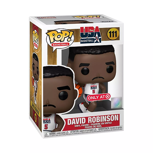 Funko POP! NBA Legends David Robinson 1992 Team USA White Target Exc