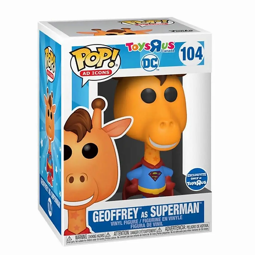 Funko Pop! Ad Icons: DC - Geoffrey The Giraffe as Superman ! Toys R Us Exclusive