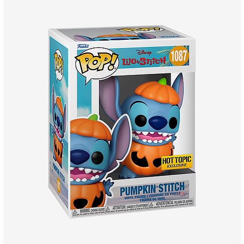 Disney Lilo & Stitch Pop! Pumpkin Stitch Hot Topic Exclusive Preorder