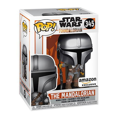 Funko Pop! Star Wars The Mandalorian # 345 Chrome Amazon Exclusive