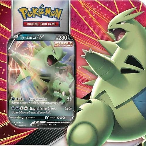 Pokemon TCG V Strikers Tyranitar V Tin - 5 Booster Packs