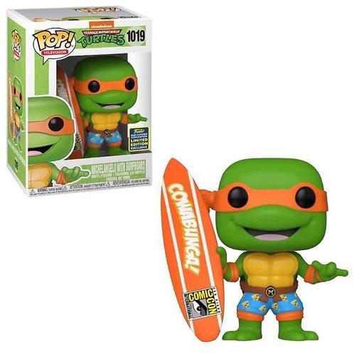 Funko Pop! Michelangelo with Surfboard #1019  Summer Convention