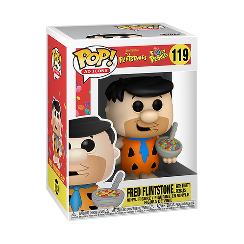 Funko POP! Ad Icons: Fruity Pebbles - Fred with Cereal Preorder