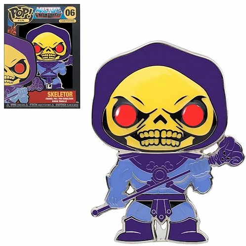 Masters of the Universe Skeletor Large Enamel Pop! Pin PREORDER