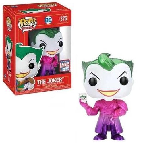Funko POP! DC Heroes The Joker Pink Purple Metallic Shanghai China Excl