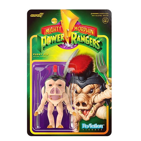 Mighty Morphin Power Rangers Pudgy Pig 3 3/4-Inch ReAction Figure Preorder